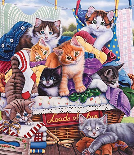 SunsOut Laundry Time Jigsaw Puzzle (200-Piece)