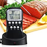 BBQ Thermometer, Breett? Premium Digital Probe Cooking BBQ & Oven Instant Read Kitchen Thermometer Timer Alarm Clock