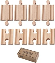Orbrium Toys Male-Male Female-Female Wooden Train Track Adapters Fits Thomas Brio Chuggington Pack o