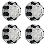 OxGord Center Caps for Select Chevy GMC (Pack of 4) Wheel Covers 8 Lugs Chrome Replacement