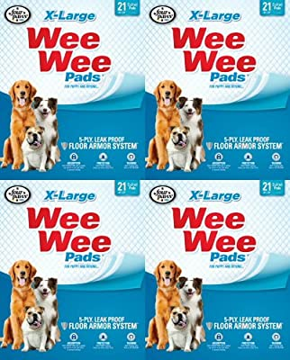 Four Paws XL 84 pk Wee Wee Pads (4x21pk)