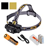 Fenix HL60R 950 Lumens Rechargeable LED Headlamp with Rechargeable 18650 Battery, USB Charging cable and LumenTac Organizer and Backup CR123As