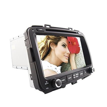 Rungrace Android 8-Pouce 2 Din TFT Ecran Lecteur DVD de Tableau de Bord en Automobile avec Bluetooth,GPS Navigation-Pret,RDS,WIFI,IPOD,Bluetooth,ATV pour Kia Carens