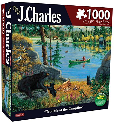 Karmin International J. Charles Trouble at The Campfire Puzzle (1000-Piece)