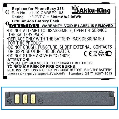 Akku-King Akku kompatibel zu DORO PhoneEasy 338, 345, 342 HandlePlus - ersetzt DORO 01.10.CAREP0103 - Li-Ion 800mAh