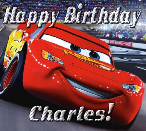 """Cars """"Lightning Mcqueen"""" 1/4 Sheet Edible Photo Birthday Cake Topper. ~ Personalized!"""