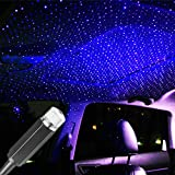 USB Star Projector Night Light, Romantic Car Galaxy Projector Light, Car Interior Lights, Car Roof Decoration Light, Gift for Cars, Bedrooms and Parties â?? Violet Blue