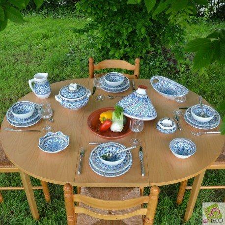 Service à soupe Jileni turquoise - 6 pers