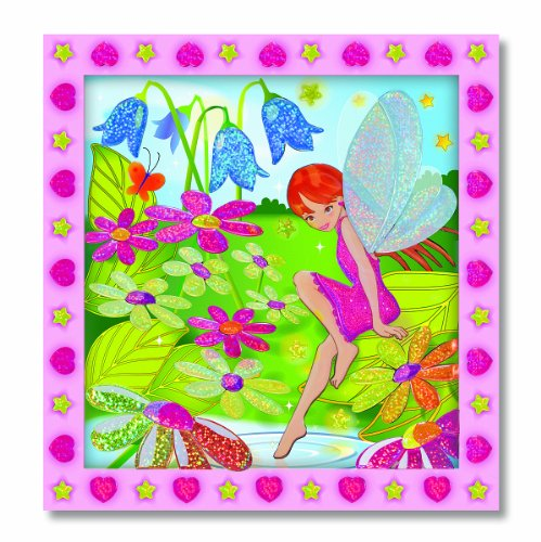 Melissa & Doug Peel & Press Sticker by Number - Flower Garden Fairy - 1