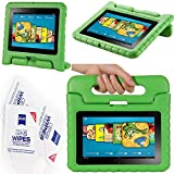 "2012 Kindle Fire Hd 7"" Cover Case Slim Fit Silicone Plastic Dual Protective Back Cover Standing Case Kid Proof Case for Amazon Kindle Fire Hd 7 Inch(will Not Fit Hd or HDX Models)-multiple Color Options (EVA-Kindle Fire HD 7(2012):Green)"