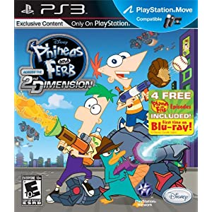 Phineas and Ferb: Across the 2nd Dimension Video Game for PS3