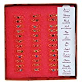 Rhode Island Novelty 36 Piece Birthstone Ring with Display Stand, Assorted