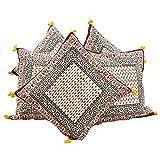 Jaipur RagaEthnic Handblock Printed Cotton Cushion Cover Jaipuri Cushion Covers