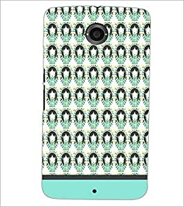 PrintDhaba Girl Pattern D-1956 Back Case Cover for MOTOROLA GOOGLE NEXUS 6 (Multi-Coloured)