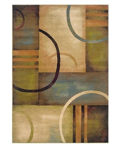 Granville Rugs Aiden Rug, Cream/Brown/Multi, 10' x 13'