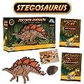 Stegosaurus Action Figure - Includes Real Dinosaur Bone Fossil!
