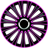 ZentimeX Z733000 Radkappen Radzierblenden universal 13 Zoll pink-black