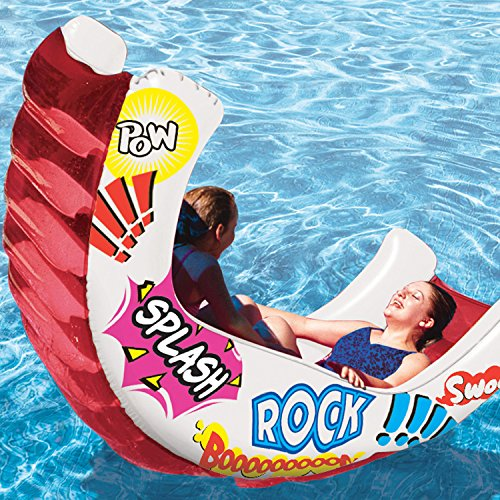 Poolmaster Rockets Multi-colored Design Fun Pool Inflatable Raft Toy