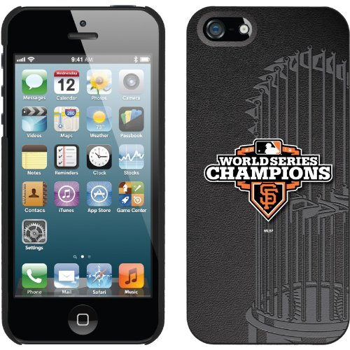 Great Price Giants WS '12 Trophy Black design on a Black iPhone 5s / 5 Thinshield Snap-On Case by Coveroo