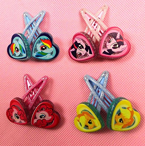 My Little Pony Barettes and Hair Clips for Kids, Hair Accessories, Pack of 4 - 1