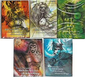 Magic the Gathering Planeswalker Complete 5- 30 Card Deck Sets. Includes Black, White, Green, Blue and Red 30 Card Decks