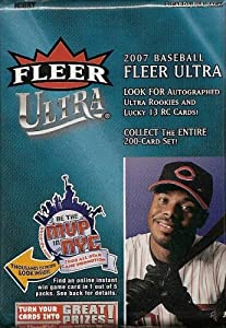 2007 Fleer Ultra Baseball SE Hobby Pack (15 Cards/Pack) Signature or Memorabilia Card Plus a Rookie in EVERY PACK!