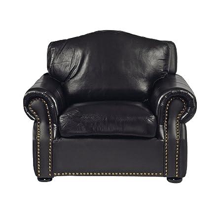 Sir Leder Sofa 1er schwarz