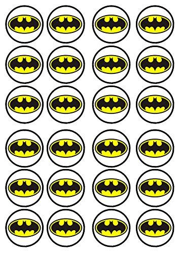 Batman #2 comestible épaisseur Crème vanille, décorations de gâteaux en Papier de riz pour cupcakes/décorations