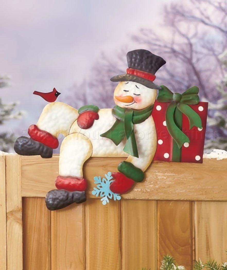 Snowman Fence Decorations | Christmas Wikii
