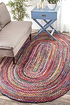 Casual Handmade Braided Cotton Multi Area Rugs