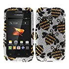Fincibo (TM) Samsung Galaxy Rush M830 Bling Crystal Rhinestones Hard Snap On Protector Cover Case - Yellow Bees