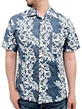 (マルカワジーンズパワージーンズバリュー) Marukawa JEANS POWER JEANS VALUE アロハシャツ 大きいサイズ 綿裏使い 20color 3L ネイビー