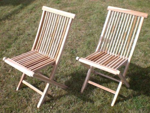 Gartenstuhl Klappstuhl aus Teak Stuhl im Set 2 Stück Holz preiswert jetzt bestellen