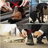 Coolnice 結ばない靴ひも 大人ブーツ専用シューレース 防水シリコン製カラフル靴紐オシャレ 快適40mm ブラック