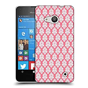 Snoogg Abstract White Pink Pattern 2 Designer Protective Phone Back Case Cover For Nokia Lumia 550