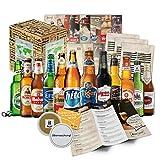 BIERE DER WELT (inkl. Geschenkverpackung + Bier Info + Tasting Anleitung + Bierdeckel), Geburtstagsgeschenk für Männer, Weihnachtsgeschenk für Freund, Geschenk zum 18, Geschenkidee für Weihnachten (12x0,33l)