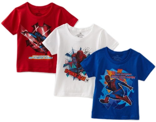 Fruit Of The Loom Boys 2-7 Spiderman Movie 4 Crew Neck Tee