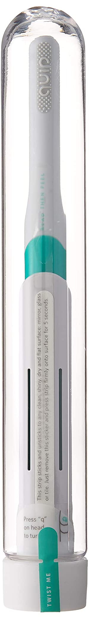 Quip Electric Toothbrush - Green Color - Electric Brush and Travel Cover Mount - Frustration Free Packaging