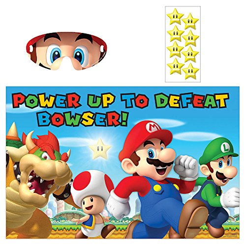 Amscan Boys Super Mario Brothers Birthday Party Game (3 Piece), Multicolor, 37 1/2 x 24 1/2