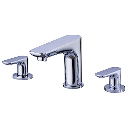 SUMERAIN Double Handle Widespread Bathroom Faucet Polished Chrome