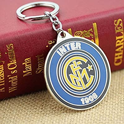 Official Soccer Team Football Club Inter Milan Metal Keychain, Keyring, Pendant