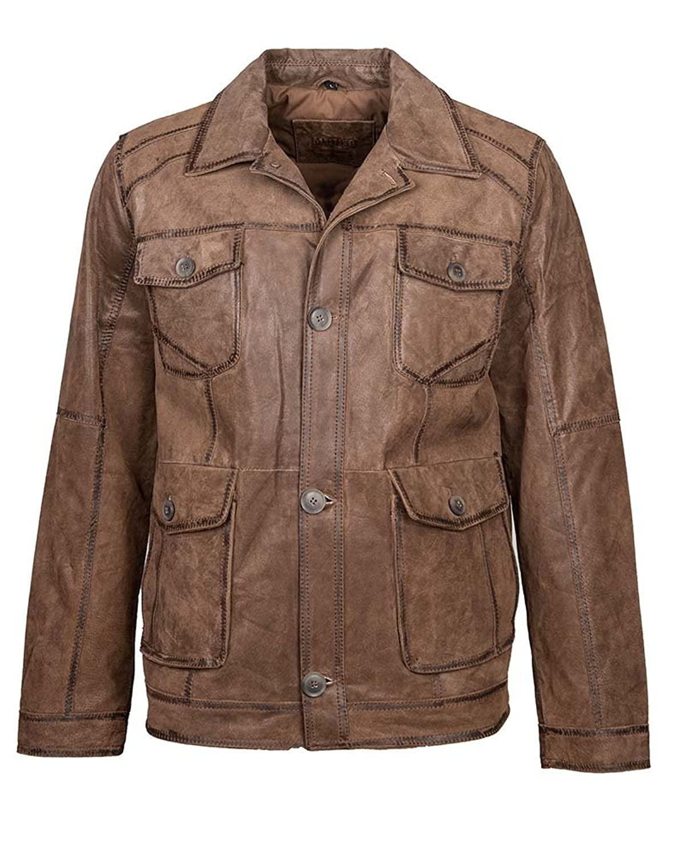 Mustang Lederjacke, Herren Lodus (brown) bestellen