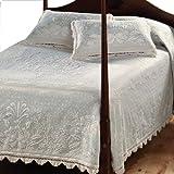 Classic Cotton Matelasse Bedspread - King White