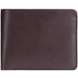 FlyHawk Best RFID Blocking Genuine Leather Wallets for Men Biford Wallet (ONE SIZE, COFFER)