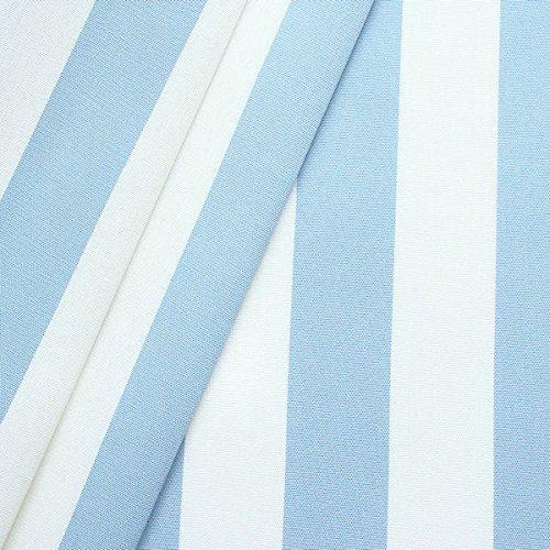Markisen Outdoorstoff Streifen Breite 160cm Hell-Blau Weiss günstig online kaufen