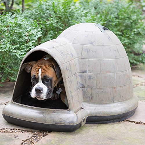 Petmate indigo dog house camo black 90 125 lb animals for Indigo dog house