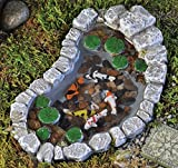 Fiddlehead Fairy Garden Koi and Lily Pad Pond #16883