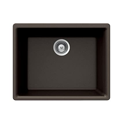 Houzer Galaxy N-100U BRONZE Galaxy Series Undermount Granite Single Bowl Kitchen Sink, Bronze