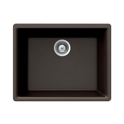 Houzer Galaxy N-100U BRONZE Galaxy Series Undermount Granite Single Bowl Kitchen Sink, Bronze