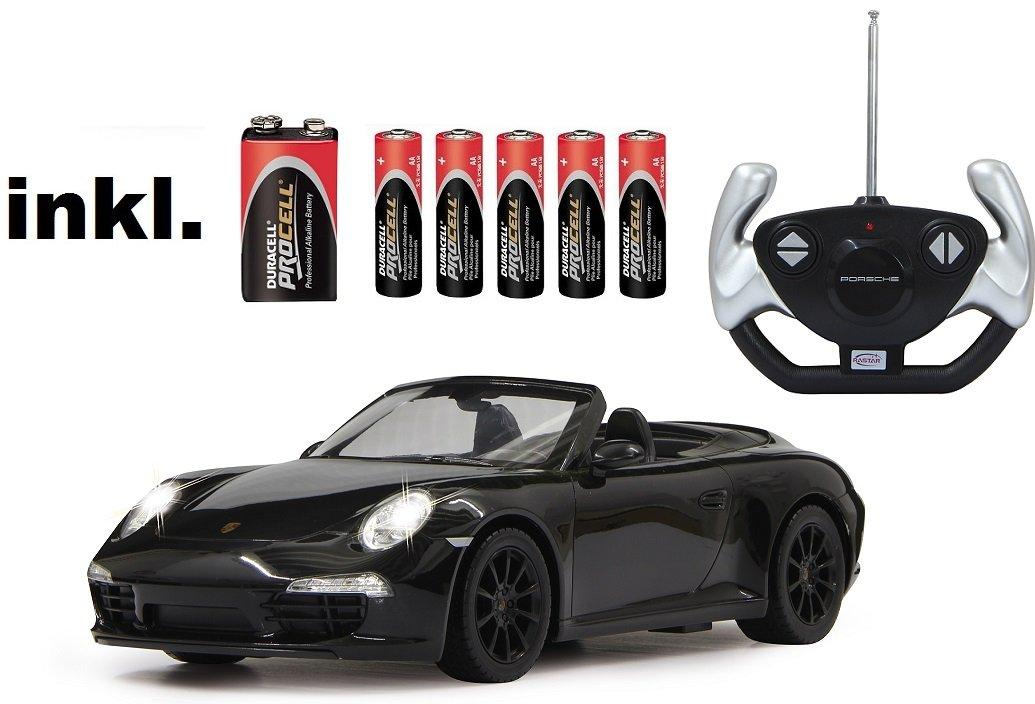 RC Porsche 911 Carrera S ferngesteuert 1:12 inkl. Batterien – Licht – RTR – (Farbe wählbar) (schwarz 27 MHz) günstig online kaufen